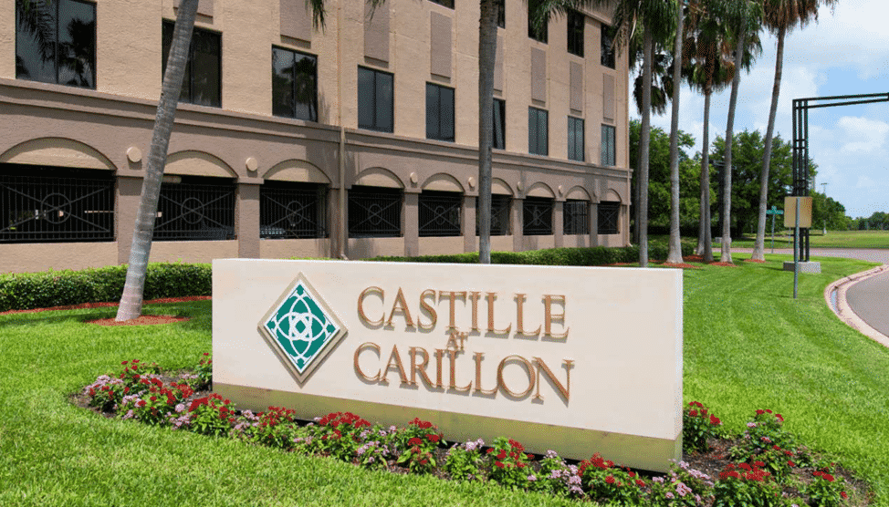 sign for Castille at Carillon office/professional complex
